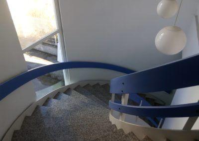 Nave Logística. Polígono Proni - Meres - Siero. Escaleras Oficinas