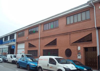 Nave Polígono Ferreros - Oviedo. Vista Fachada 3