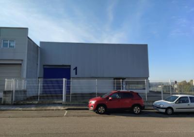 Nave Polígono Tabaza 2. Vista fachada delantera 2