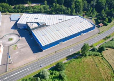 Conjunto Naves Industriales Logísticas - Polígono Olloniego - Oviedo. Vista aérea 3